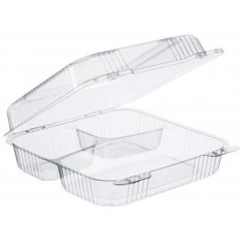"""Embalagem Plastico OPS 3 C. """"StayLock"""" Bisagra Transp. 1120ml (100 Uds)"""