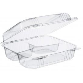 """Embalagem Plastico OPS 3 C. """"StayLock"""" Bisagra Transp. 830ml (125 Uds)"""