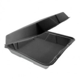 Embalagem Foam MenuBox divisível Preto 240x235mm (100 Uds)