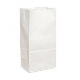 Saco de Papel Sem Asas Kraft Branco 12+8x24cm (25 Uds)