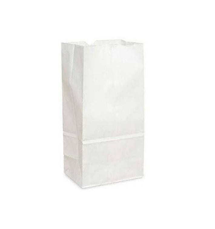 Saco de Papel Sem Asas Kraft Branco 12+8x24cm (1000 Uds)