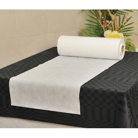 Toalha em Rolo Não Tecido Branco 0,4x48m 50g (6 Ud)