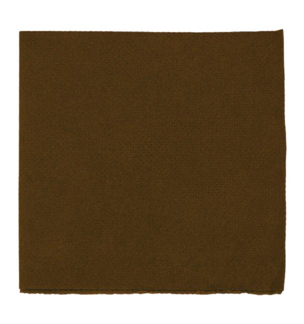 Guardanapos Papel Microdot Marrom 20x20cm (100 Uds)