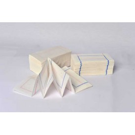 "Toalhas de Papel ""Zigzag"" Branco Debrum 14x14cm (300 Uds)"