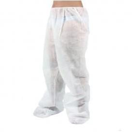 Calças Pressoterapia em TNT de PP Plastificado Branco (100 Uds)