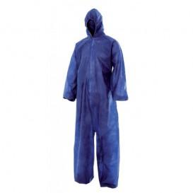 Fato de Proteção TST PP Capuz e Fecho Zíper XXL Azul (50 Uds)