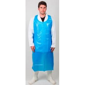 Avental Polietileno 76x120cm 20 Micron Azul (100 Uds)