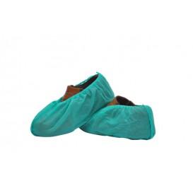Cobre Sapatos em Polipropileno Verde (100 Uds)