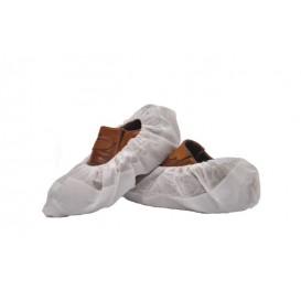 Cobre Sapatos TST de PP Branco com Sola Reforçada CPE Branco (500 Uds)