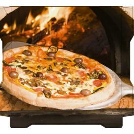 Caixa Cartão Pizza Al Bassanello Pala 40x40x4,2 cm (100 Uds)