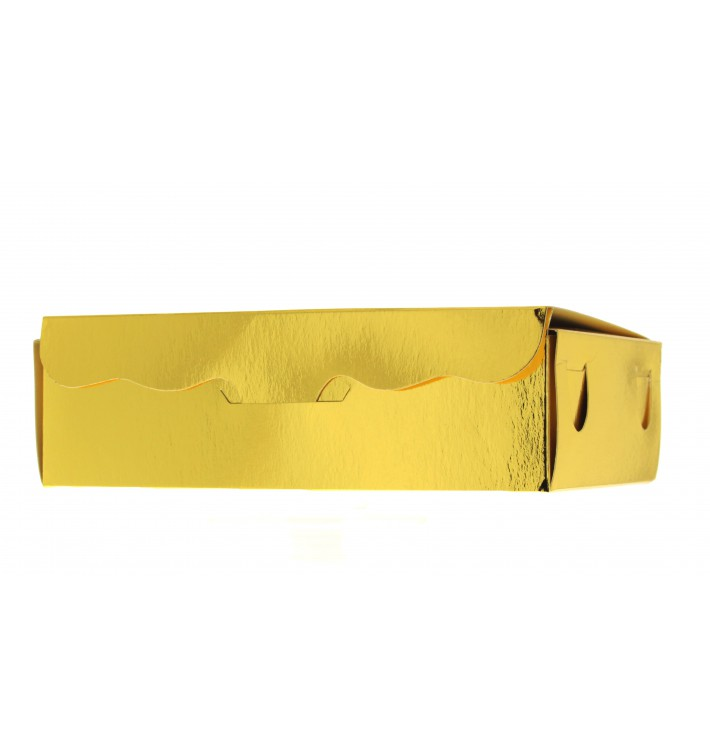 Caixa Bombons e Doces Ouro 11x6,5x2,5cm 100g (50 Uds)