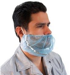 Protetor de barbas em TST polipropileno Azul Detetável (1000 Uds)