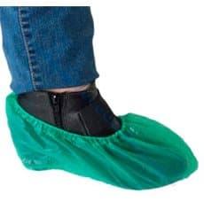 Cobre Sapatos em Polietileno CPE 40 Microns Verde (100 Uds)