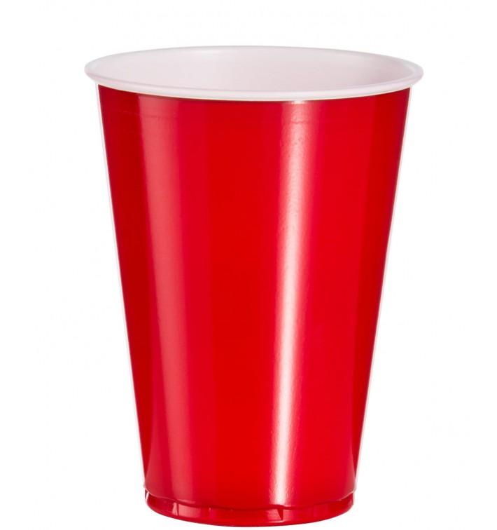 Copo Rígido de PS 10 Oz/300 ml Vermelho (100 Unidades)