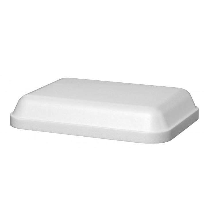 Tampa para Embalagem Retangular Isopor Branco 740 ml (25 Unidades)