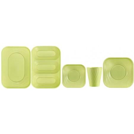 """Copo de Plastico PP """"X-Table"""" Limão 320ml (128 Unidades)"""