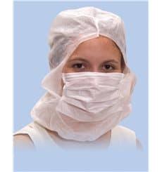Touca Integral com Máscara 3 Capas Branco (500 Uds)