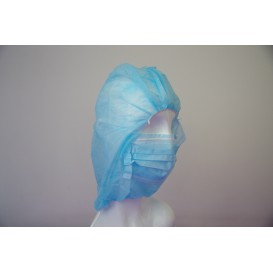 Touca Integral en Polipropileno Azul (500 Uds)