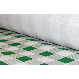 Toalha Papel Rolo Quadros Verdes 1x100m 40g (6 Uds)