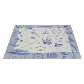 """Toalhete Papel Mesa 30x40cm """"Marinheiro"""" Azul 50g (500 Uds)"""