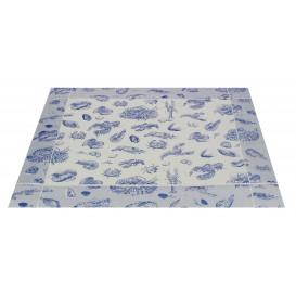 "Toalhete Papel Mesa 30x40cm ""Marisco"" Azul 50g (2500 Uds)"