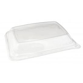 Tampa Cupula PET para Embalagem Cana-de-açúcar 20x14x3cm (50 Uds)
