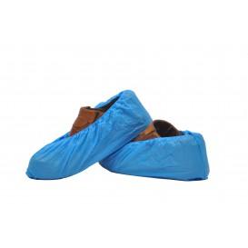 Cobre Sapatos em Polietileno CPE 40 Microns Azul (100 Uds)