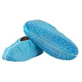 Cobre Sapatos em TST Antiderrapagem Azul (100 Uds)