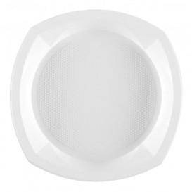 Prato Plastico PS Raso Branco 230x230mm 1C (100 Unidades)