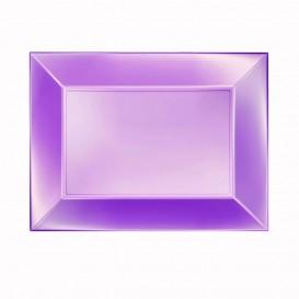 Bandeja de Plastico Violeta Nice Pearl PP 280x190mm (240 Uds)