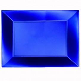 Bandeja de Plastico Azul Nice Pearl PP 345x230mm (30 Uds)