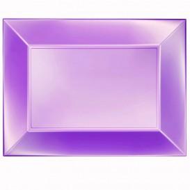Bandeja de Plastico Violeta Nice Pearl PP 345x230mm (60 Uds)