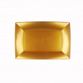 Bandeja de Plastico Ouro Nice PP 280x190mm (12 Uds)