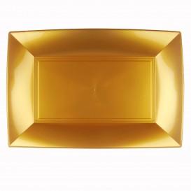 Bandeja de Plastico Ouro Nice PP 345x230mm (60 Uds)