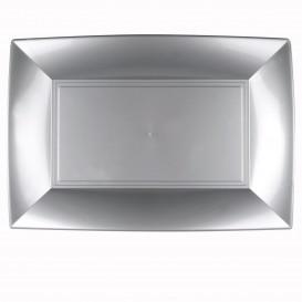Bandeja de Plastico Cinza Nice PP 345x230mm (60 Uds)