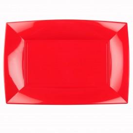Bandeja de Plastico Vermelho Nice PP 345x230mm (6 Uds)