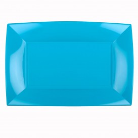 Bandeja de Plastico Turquesa Nice PP 345x230mm (60 Uds)