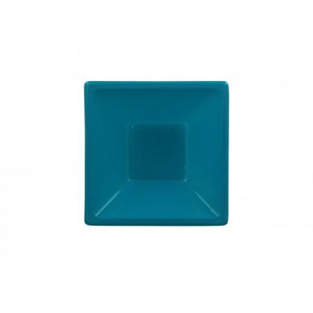 Tigela Plastico Quadrada Turquesa 120x120x40mm (720 Uds)