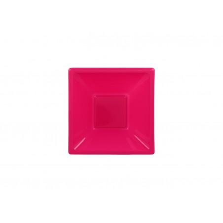 Tigela Plastico Quadrada Fúcsia 120x120x40mm (12 Uds)