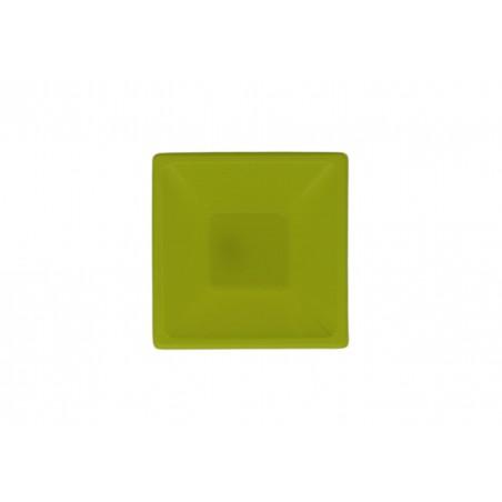 Tigela Plastico Quadrada Pistache 120x120x40mm (12 Uds)