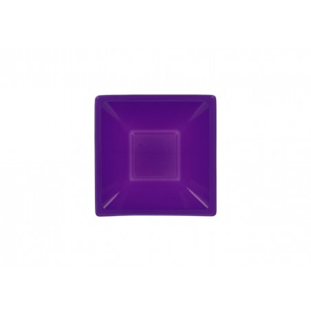 Tigela Plastico Quadrada Lilás 120x120x40mm (12 Uds)