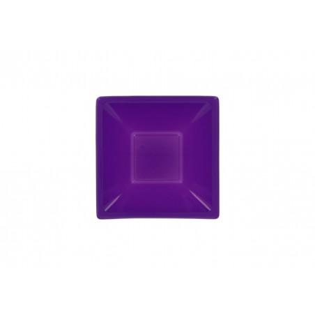 Tigela Plastico Quadrada Lilás 120x120x40mm (720 Uds)