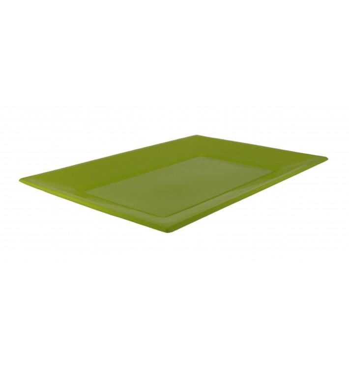 Bandeja Plastico Rectangular Pistache 330x225mm (180 Uds)