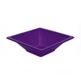 Tigela de Plastico PS Quadrada Lilás 12x12cm (12 Uds)