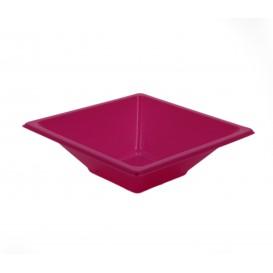 Tigela de Plastico PS Quadrada Fúcsia 12x12cm (25 Uds)