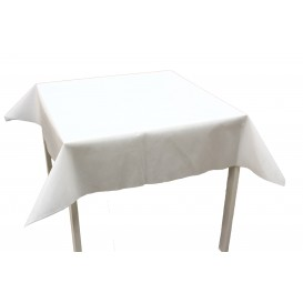 Toalha Não Tecido Branco 120x120cm (150 Uds)