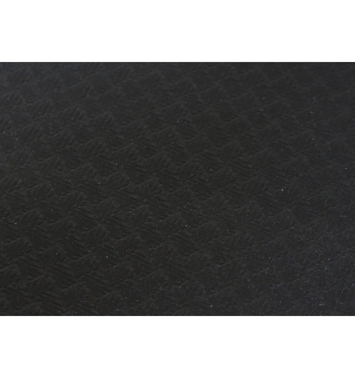 Toalha Papel Cortado Mesa Preto 100x100m 40g (400 Uds)