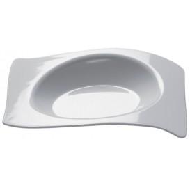 Prato Degustação Flat Branco 8x6,6 cm (50 Unidades)