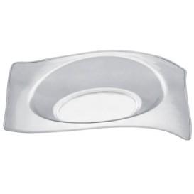 Prato Degustação Flat Transparente 8x6,6 cm (50 Unidades)