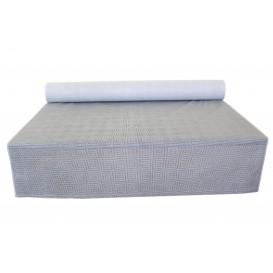 """Toalha em Rolo Não Tecido Branco desenho """"Espiral"""" 1,2x50m 50g (1 Ud)"""